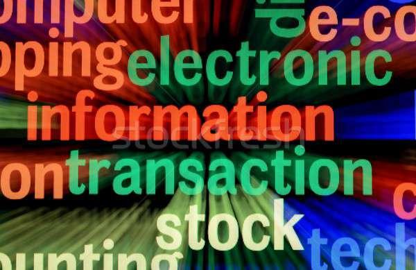 Elektronikus információ tranzakció üzlet internet technológia Stock fotó © alexskopje