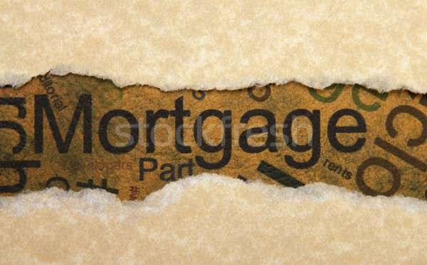 Mortgage torn paper Stock photo © alexskopje