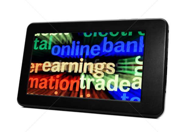 çevrimiçi ticaret para teknoloji finanse iletişim Stok fotoğraf © alexskopje