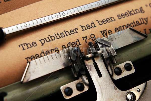 издатель письме бизнеса клавиатура ключевые столе Сток-фото © alexskopje