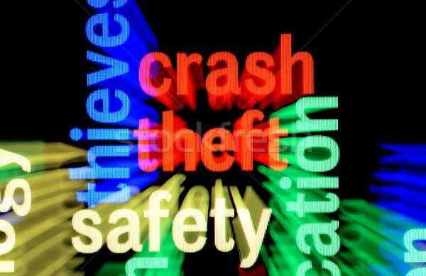 Crash diefstal veiligheid technologie toetsenbord achtergrond Stockfoto © alexskopje