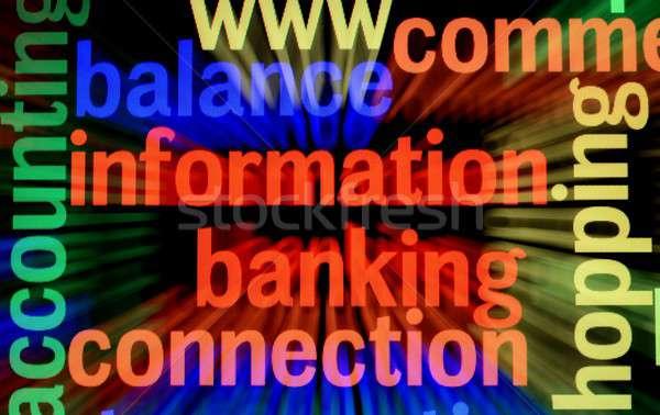 Balance information banking Stock photo © alexskopje