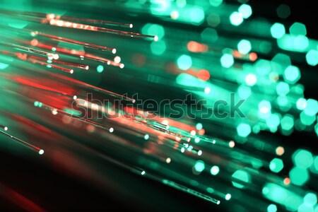 Faser Optik Licht Hintergrund Wissenschaft Kabel Stock foto © alexskopje