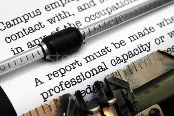 レポート オフィス 紙 レトロな 市場 タイプライター ストックフォト © alexskopje