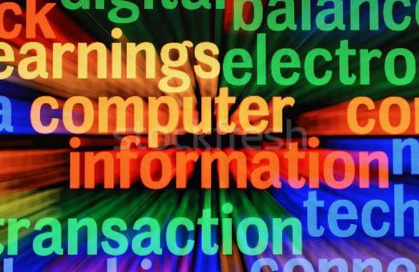 Computer information Stock photo © alexskopje