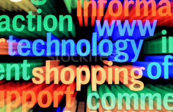Www technologie Shopping bleu Finance communication Photo stock © alexskopje