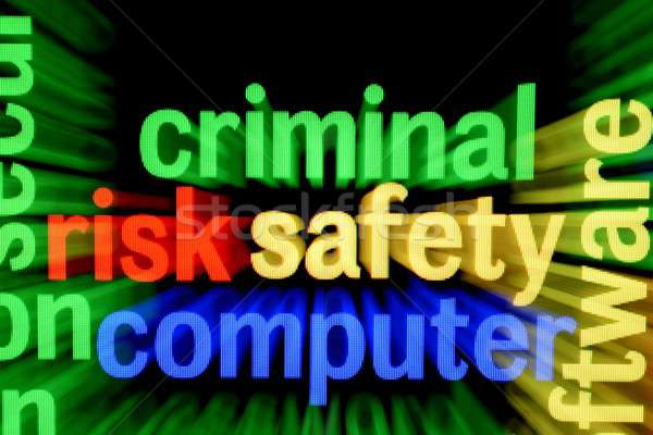 Ceza güvenlik bilgisayar teknoloji klavye ağ Stok fotoğraf © alexskopje