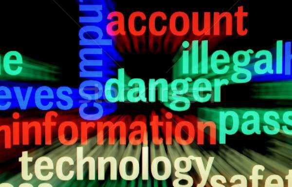 Ilegal peligro información seguridad signo web Foto stock © alexskopje
