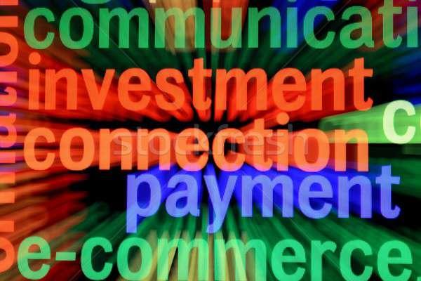 Yatırım ödeme kurumsal renk dijital şirket Stok fotoğraf © alexskopje