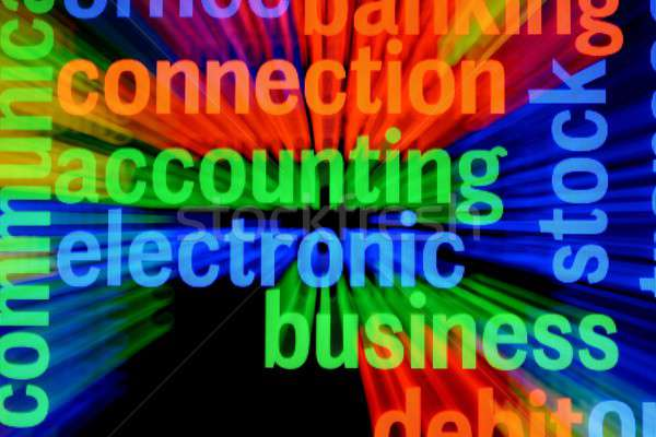 Elektronik iş para alışveriş nakit müşteri Stok fotoğraf © alexskopje
