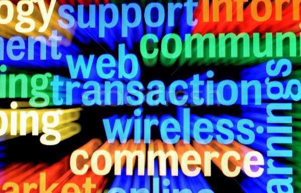 Háló tranzakció drótnélküli üzlet pénzügy kommunikáció Stock fotó © alexskopje