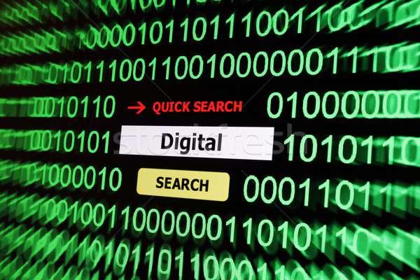 Search for digital Stock photo © alexskopje