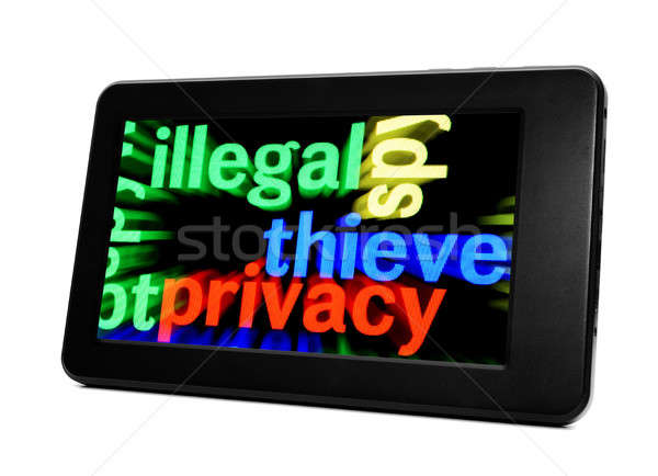 Illegal thieve privacy Stock photo © alexskopje