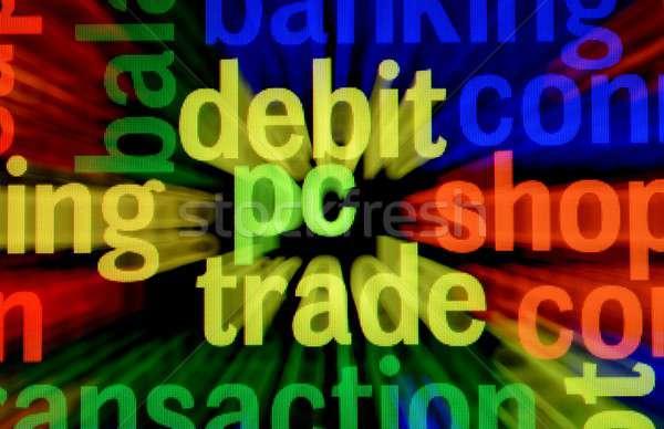 дебет ПК торговли бизнеса компьютер деньги Сток-фото © alexskopje