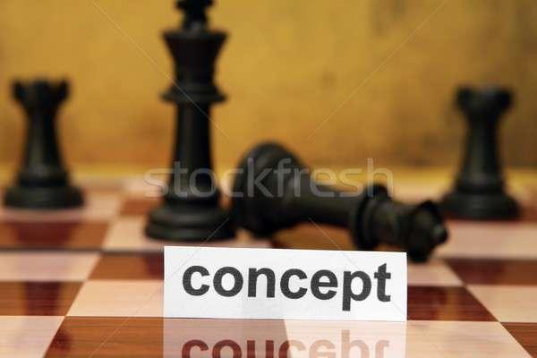 Kavram ahşap savaş kale güç başarı Stok fotoğraf © alexskopje