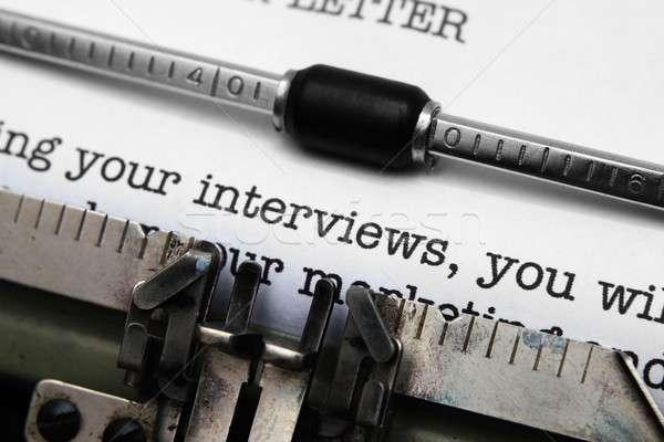 работу предлагать письме бумаги образование белый Сток-фото © alexskopje
