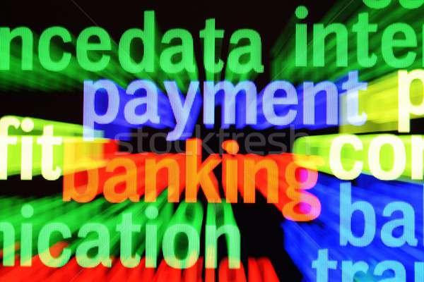 ödeme bankacılık para web ekran pazar Stok fotoğraf © alexskopje