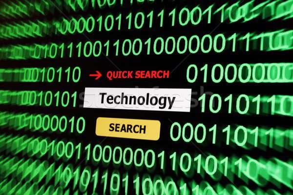 поиск технологий компьютер аннотация телефон стекла Сток-фото © alexskopje