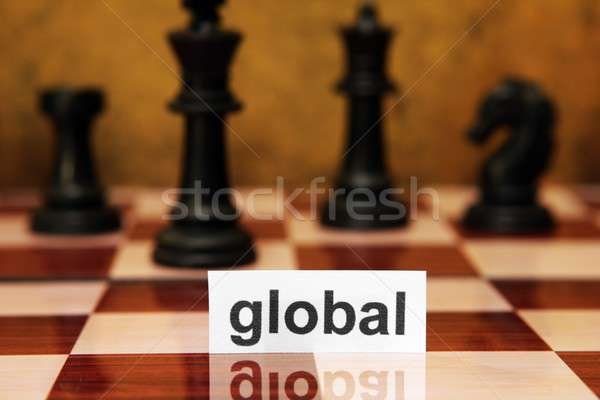 глобальный служба Мир Новости таблице столе Сток-фото © alexskopje