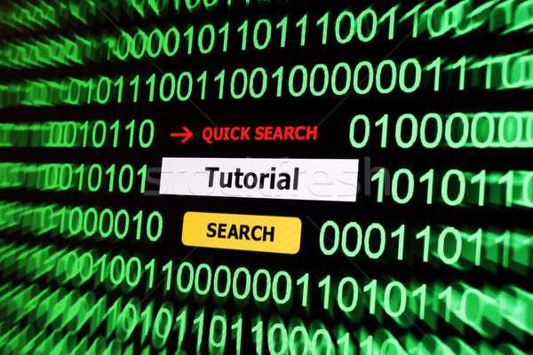 検索 チュートリアル インターネット 学校 教育 ウェブ ストックフォト © alexskopje