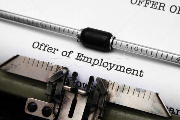Offer of employment Stock photo © alexskopje
