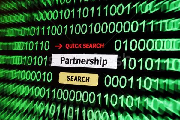 Search for partnership Stock photo © alexskopje