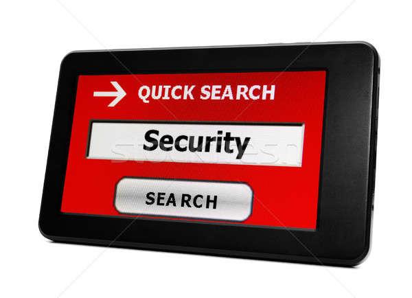 Arama güvenlik iş bilgisayar Internet dizüstü bilgisayar Stok fotoğraf © alexskopje