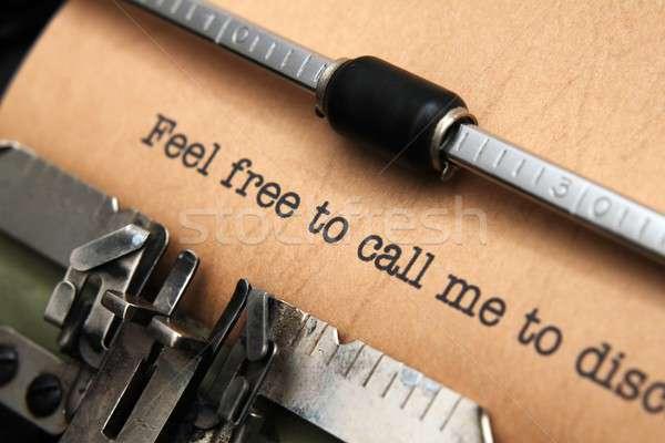 無料 私を呼び出す 図書 電話 電話 背景 ストックフォト © alexskopje