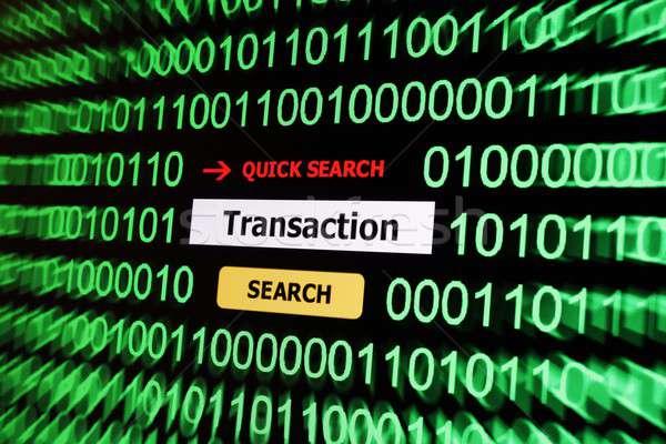 Suche Transaktion Computer Web Kommunikation Laden Stock foto © alexskopje
