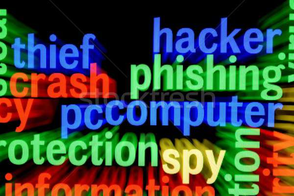Hacker phishing computer Stock photo © alexskopje