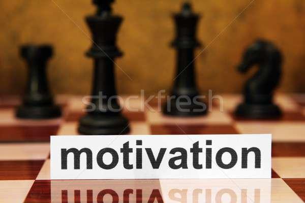 Motivation concept Stock photo © alexskopje