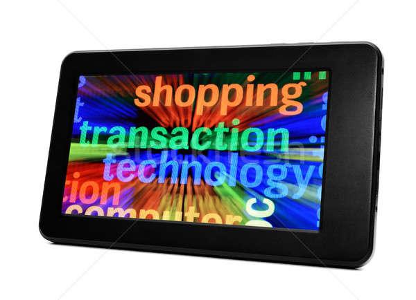 Warenkorb Transaktion Technologie Telefon Internet Netzwerk Stock foto © alexskopje