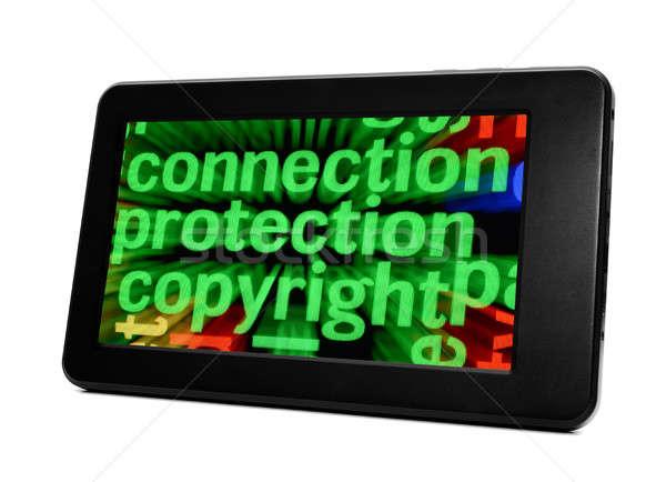 Connexion protection droit d'auteur clavier réseau communication Photo stock © alexskopje