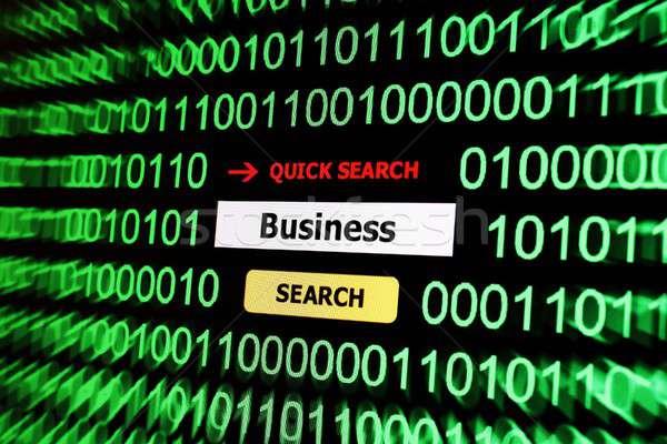 Seach for business Stock photo © alexskopje