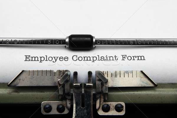 Werknemer klacht vorm papier klant positief Stockfoto © alexskopje