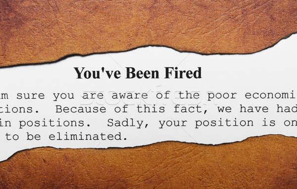 You are fired Stock photo © alexskopje