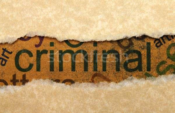 уголовный бумаги почты информации машинку преступление Сток-фото © alexskopje