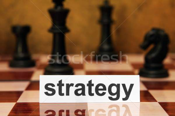 стратегия ключевые ретро Vintage игры текста Сток-фото © alexskopje