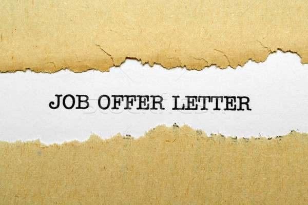Iş teklif mektup kalem eğitim daktilo Stok fotoğraf © alexskopje