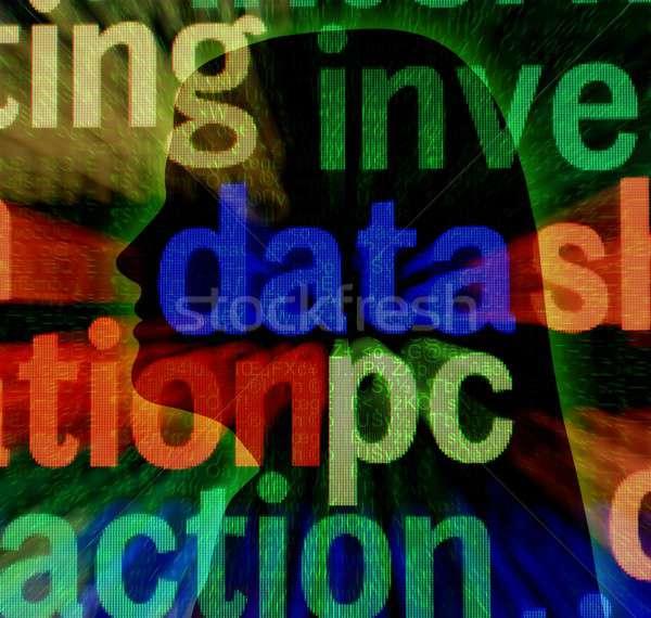 Data pc concept Stock photo © alexskopje