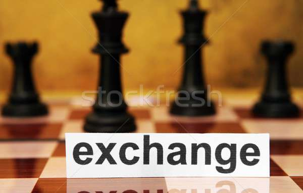 Troca negócio papel financiar nota conselho Foto stock © alexskopje