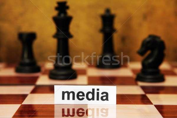 Medya kâğıt Internet iletişim bağbozumu beyaz Stok fotoğraf © alexskopje