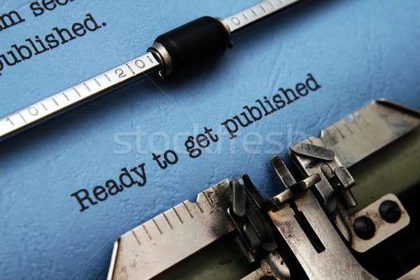 Klaar kantoor boek werk pen toetsenbord Stockfoto © alexskopje