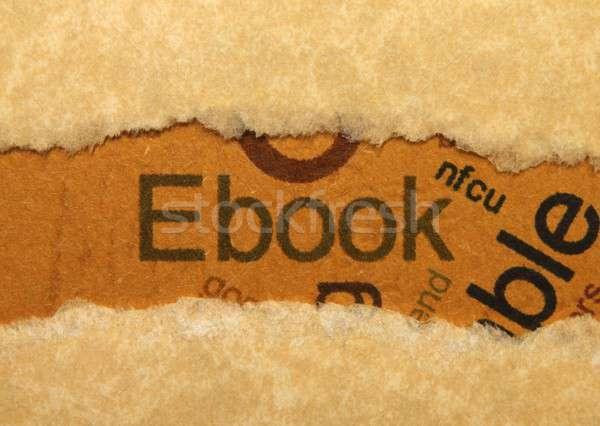 Ebook educación red Screen comunicación aprendizaje Foto stock © alexskopje