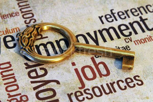 Stock photo: Job and key concept