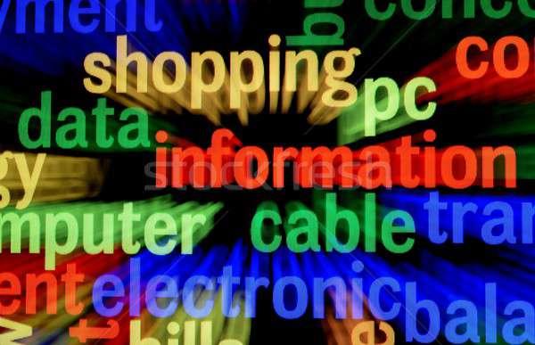 Data information concept Stock photo © alexskopje
