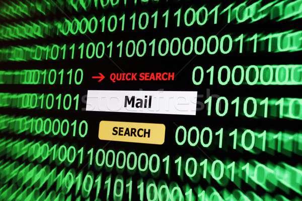 Zoek mail leven digitale gevaar www Stockfoto © alexskopje