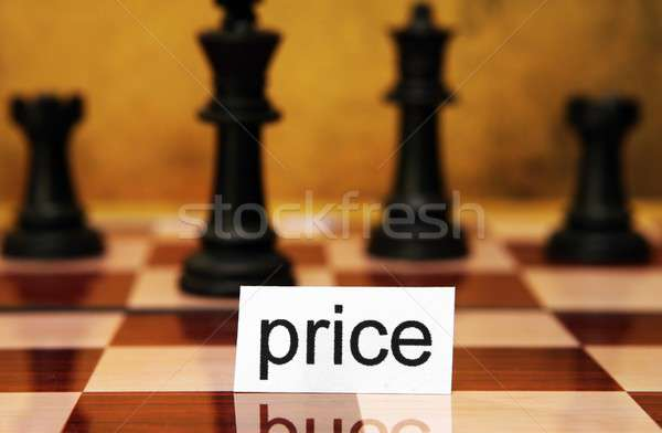 Fiyat iş ahşap satranç pazar euro Stok fotoğraf © alexskopje