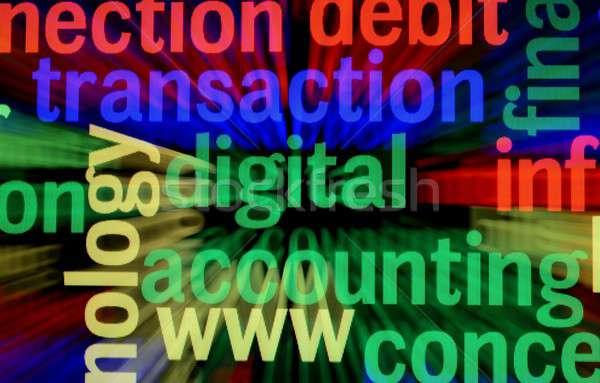 Digitalen Transaktion Computer Sicherheit Netzwerk Web Stock foto © alexskopje