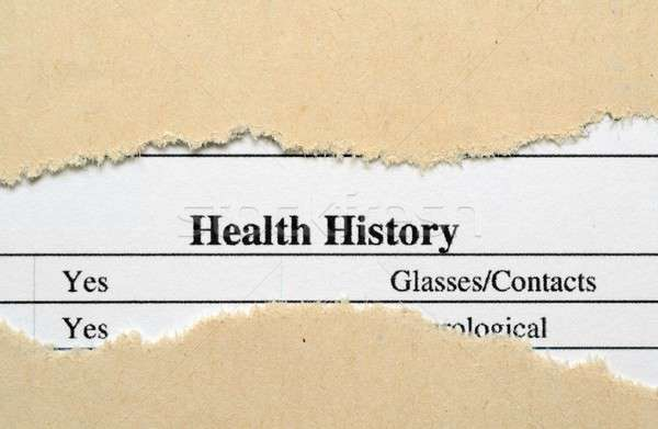 Health history Stock photo © alexskopje